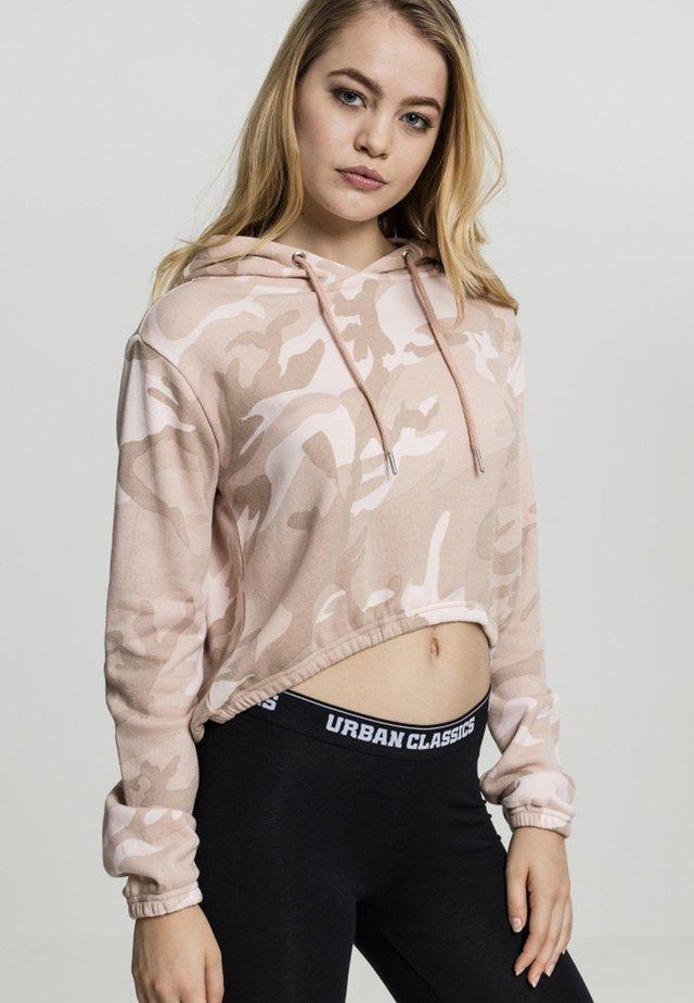 CROPPED - Bluza z kapturem - rose