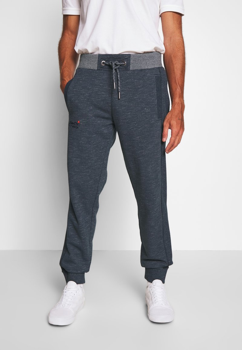 Superdry - ORANGE LABEL CLASSIC - Tracksuit bottoms - abyss navy feeder