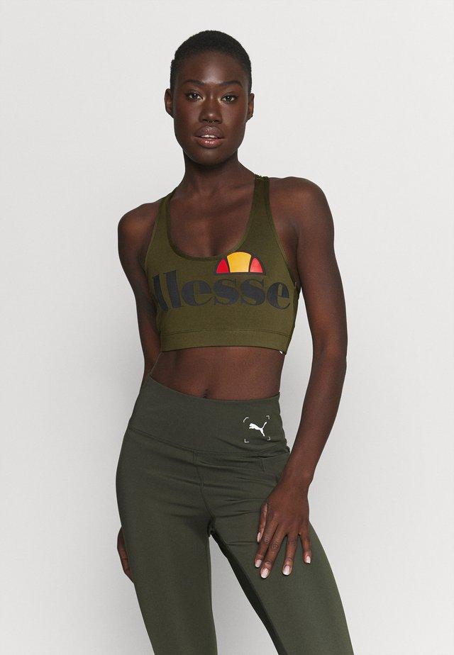 PRESELLE - Medium support sports bra - khaki