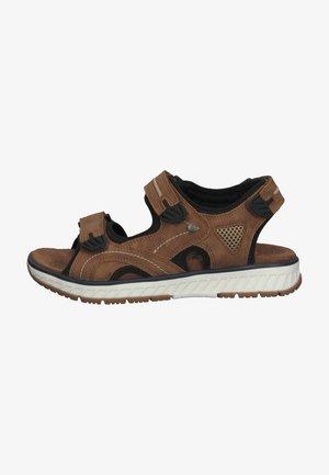 Walking sandals - marron cognac