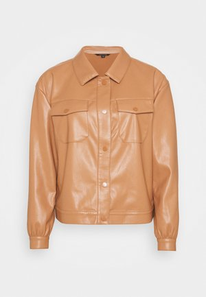 LANGARM - Faux leather jacket - camel
