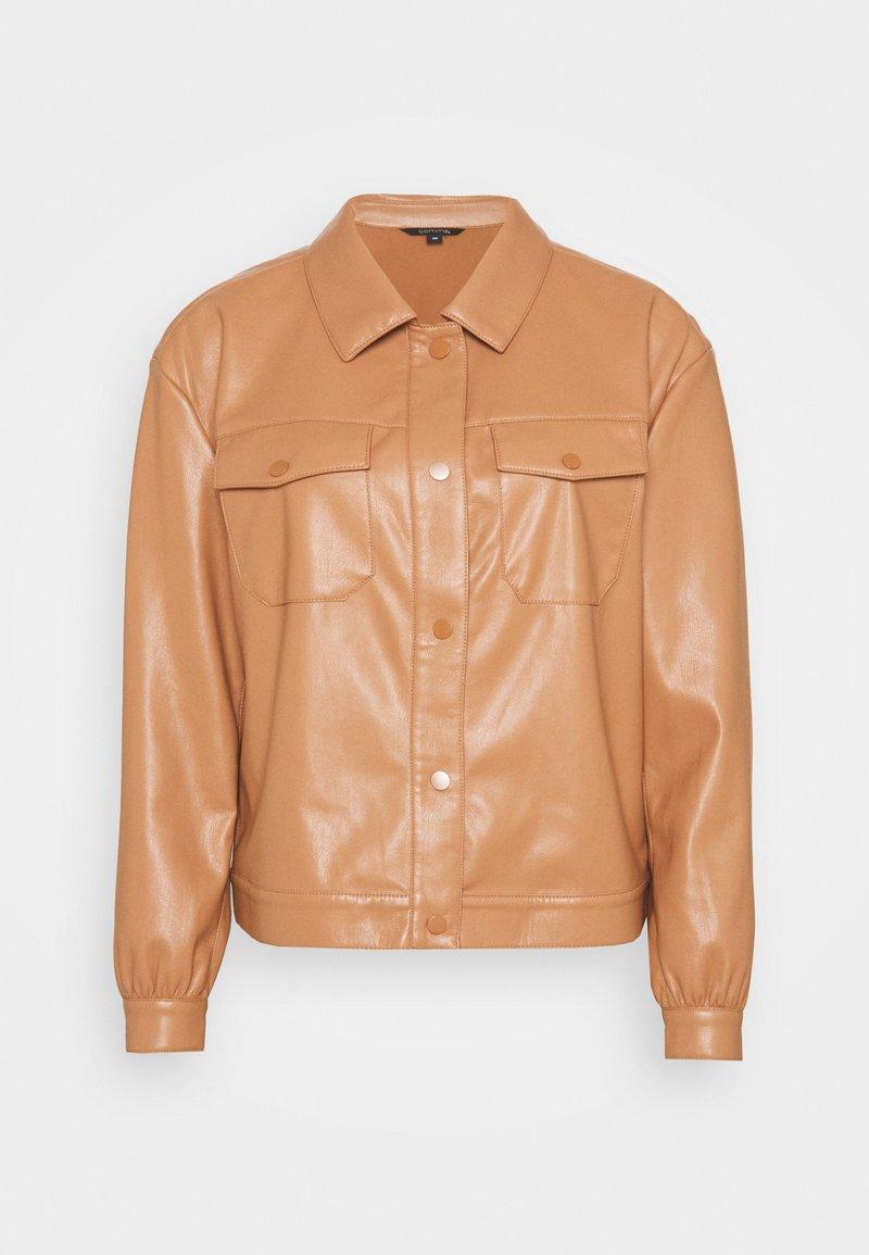 comma - LANGARM - Faux leather jacket - camel