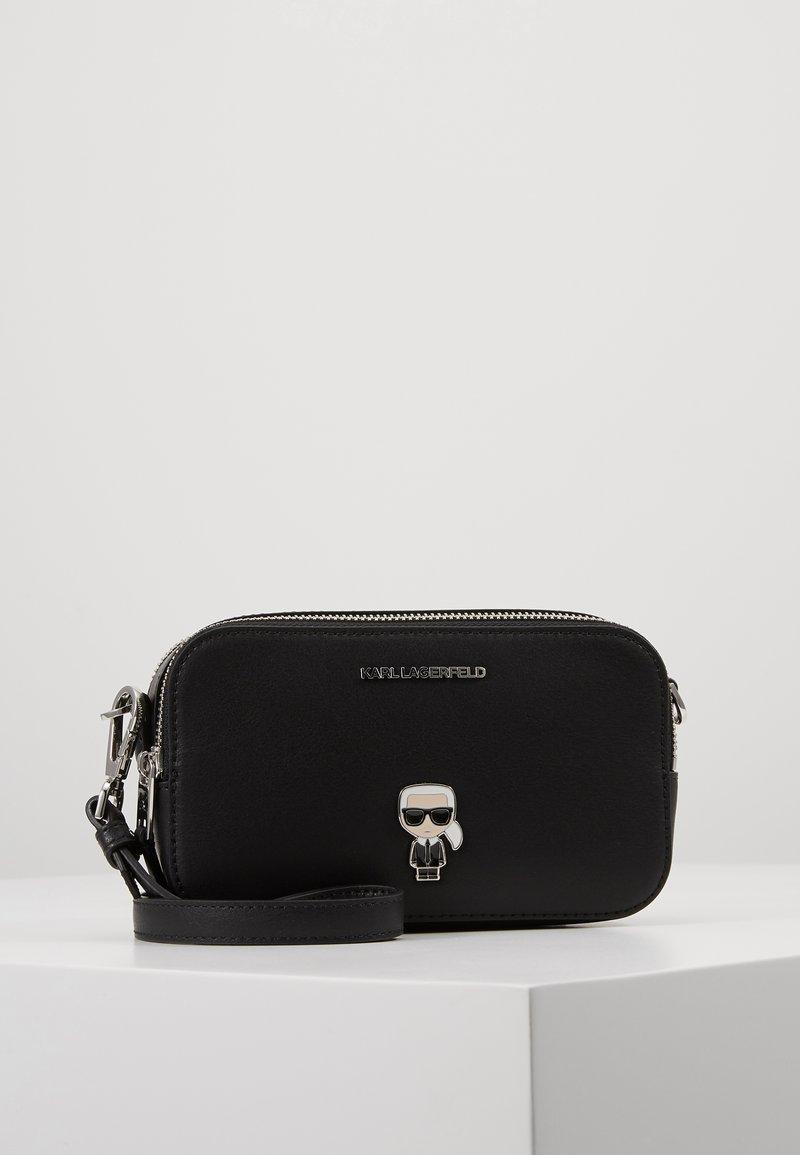 KARL LAGERFELD - IKONIK METAL PIN CAMERA BAG - Across body bag - black