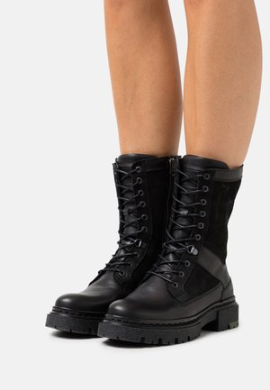 KAFEY LACE - Platform ankle boots - black