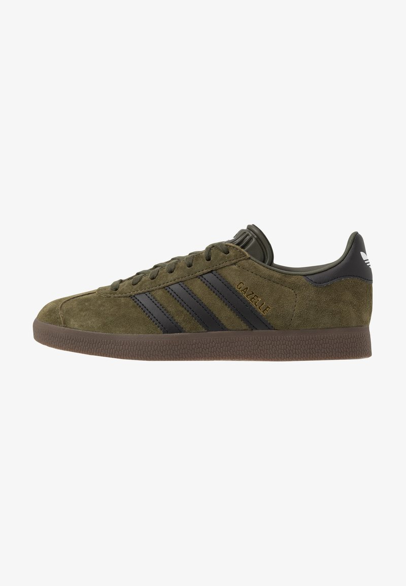 adidas Originals - GAZELLE - Baskets basses - night cargo/core black