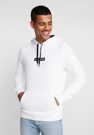 CENTERBOX LOGO - Bluza z kapturem - white