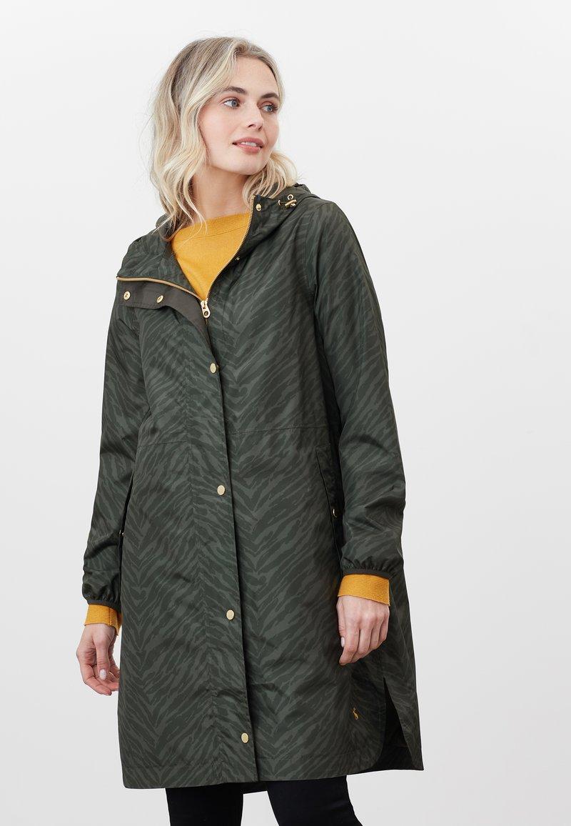 Tom Joule - Winter coat - dunkelgrün zebra-print