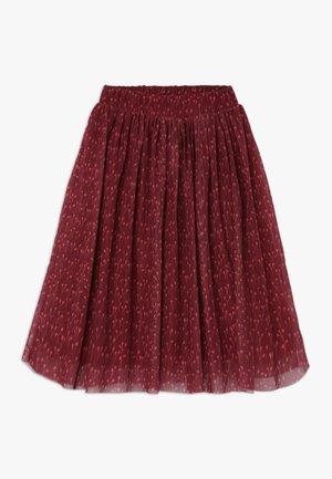 ELLA EXTRA LONG SKIRT - A-line skirt - dark red
