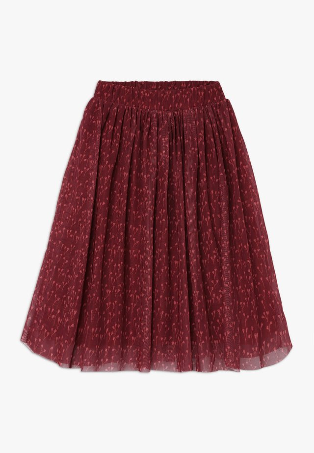 ELLA EXTRA LONG SKIRT - Spódnica trapezowa - dark red