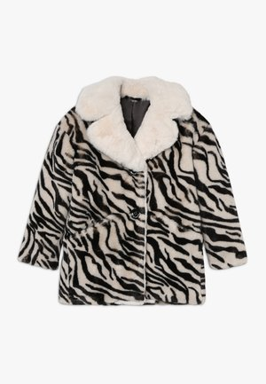 NOTAIO PELLICCIA ZEBRA - Winter coat - white/black