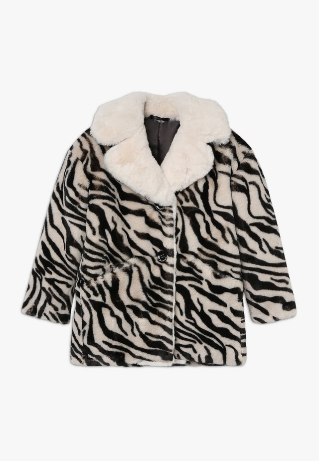 NOTAIO PELLICCIA ZEBRA - Winter coat - white/black