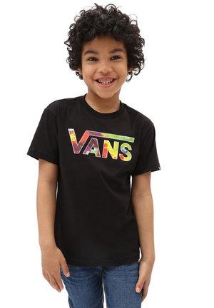 BY VANS CLASSIC LOGO FILL - T-shirt imprimé - black/spiral tie dye
