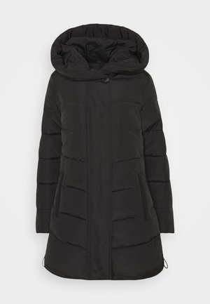 WINTERLY PUFFER COAT - Winter coat - deep black