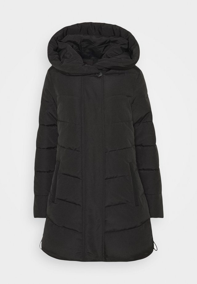 WINTERLY PUFFER COAT - Winter coat - deep black