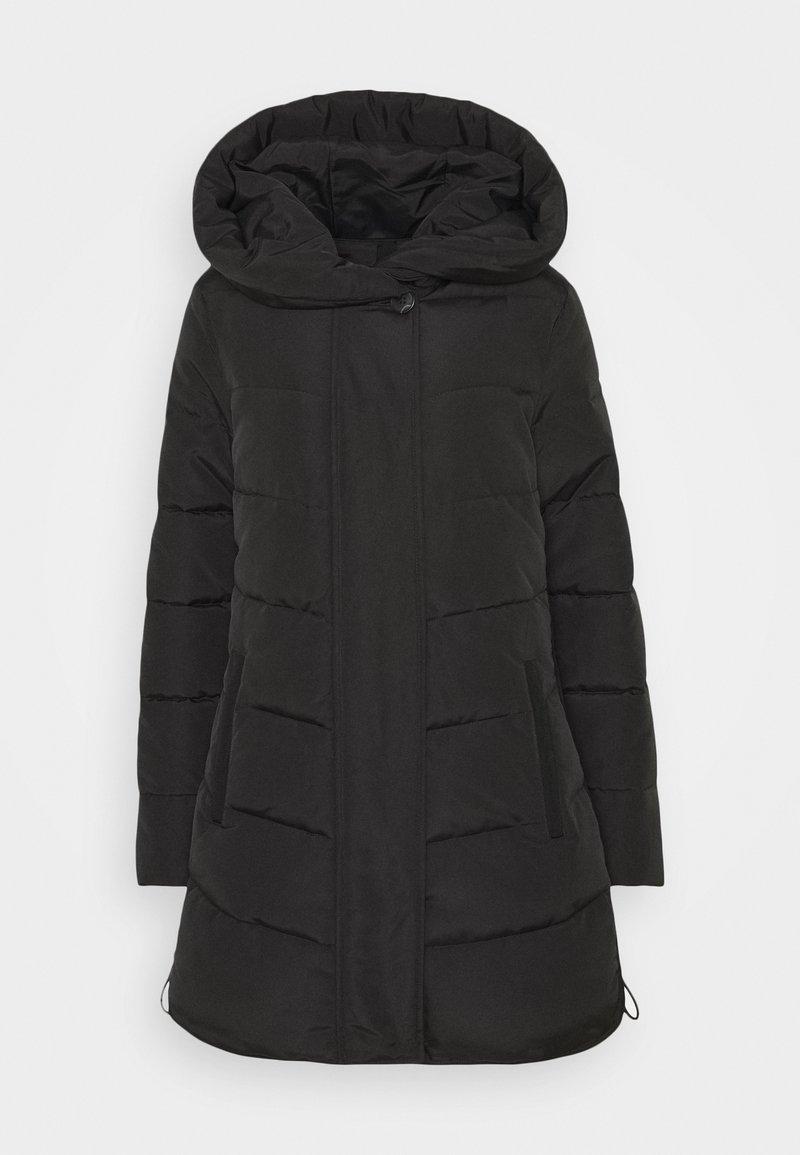 TOM TAILOR - WINTERLY PUFFER COAT - Winter coat - deep black