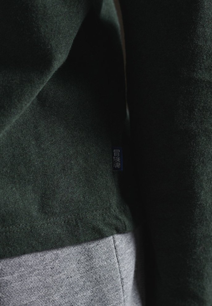 Superdry VINTAGE EMB LS - Langarmshirt - campus green grit/grün GSnqFE