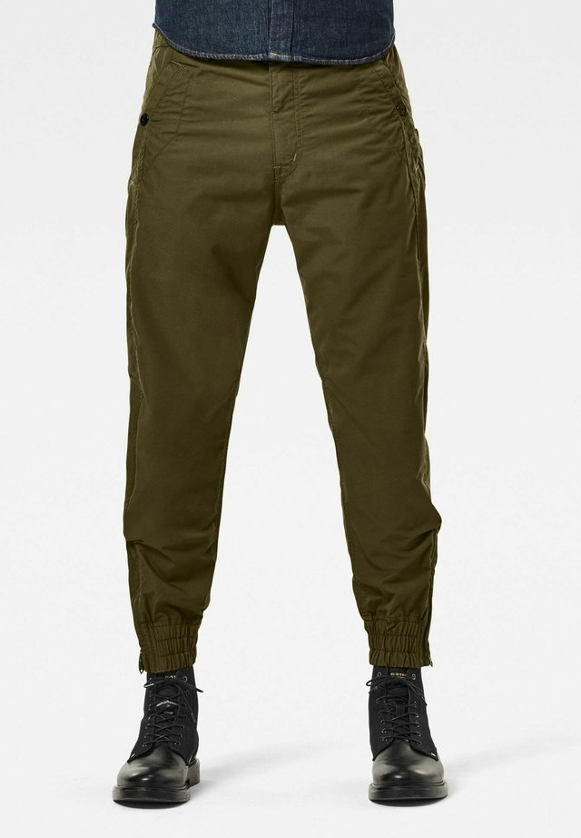 3D RELAXED CUFFED - Pantalon classique - wild olive