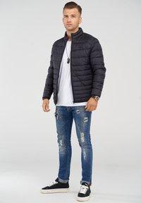 Jack & Jones - MIT STEHKRAGEN - Light jacket - black - 1