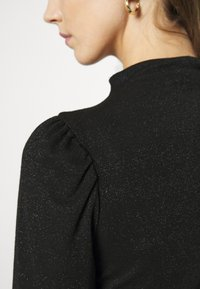 Vero Moda - VMSILVIA GLITTER  - Long sleeved top - black - 5