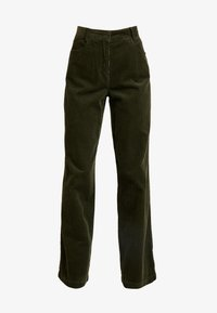 Marc O'Polo - PANTS BARA WIDE LEG HIGH RISE FLAP POCKETS - Trousers - farmland green - 4