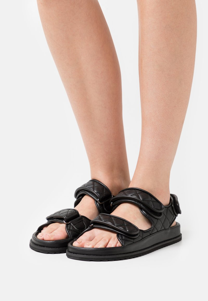 NA-KD - QUILTED  - Sandals - black