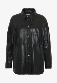River Island Petite - Faux leather jacket - black - 4