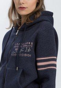 Cross Jeans - Zip-up hoodie - navy-meliert - 3