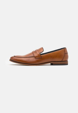 LEATHER - Smart slip-ons - camel