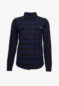 Superdry - Button-down blouse - blue check - 0