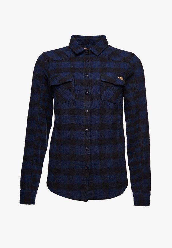 Superdry Koszula - blue check/niebieski DFOI