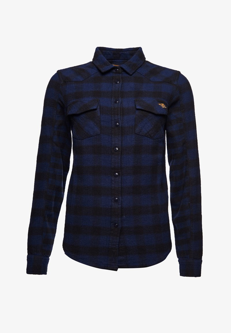 Superdry - Button-down blouse - blue check
