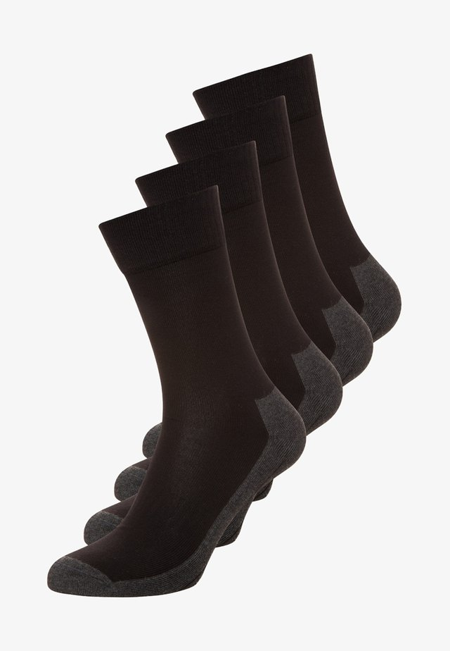 4 PACK - Sports socks - black