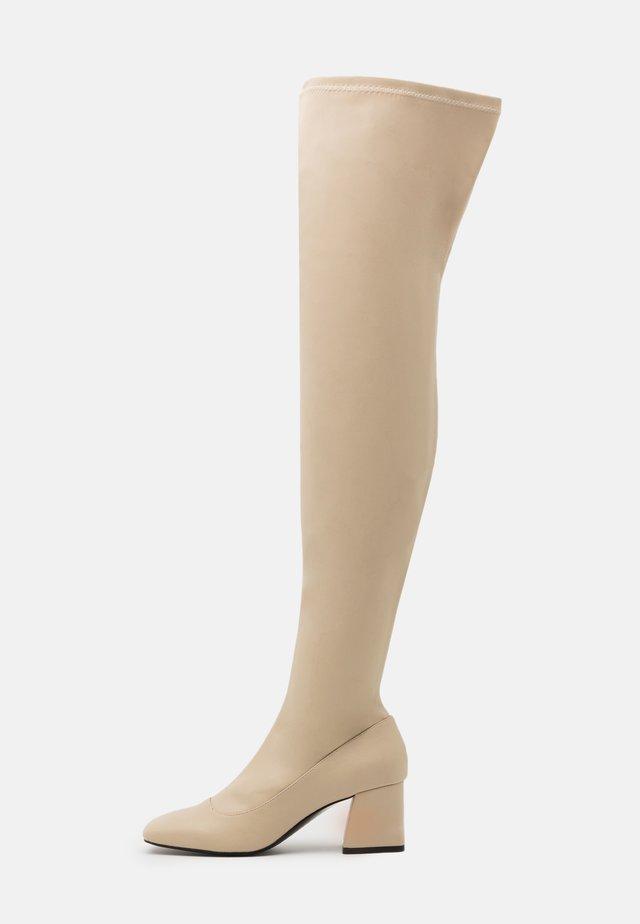 ARIANNE BOOT VEGAN - Overknee laarzen - beige