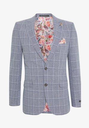 BLEND OVER CHECK SUIT JACKET SLIM - Suit jacket - mid blue