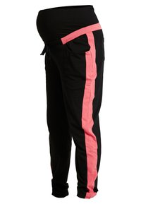 ohma! - SPORT TROUSERS WITH CONTRAST COLOR - Tracksuit bottoms - black - 3