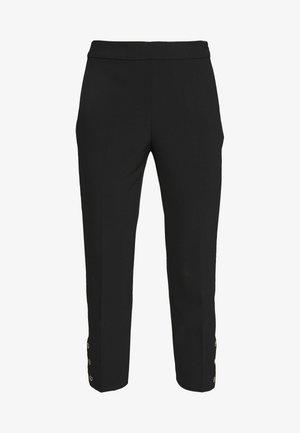 SIDE SNAP PANT - Kalhoty - black