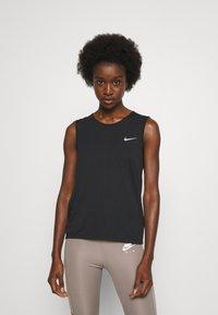 Nike Performance - RUN TANK - Topper - black/bright crimson - 0
