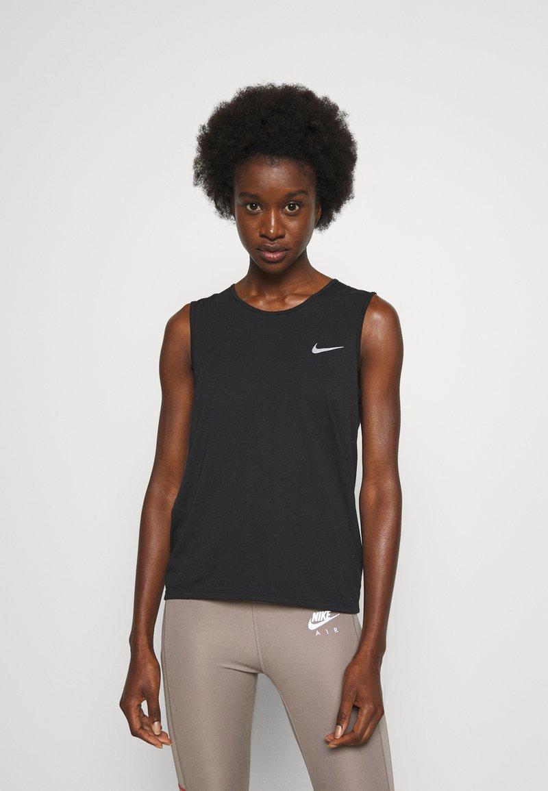 Nike Performance - RUN TANK - Topper - black/bright crimson