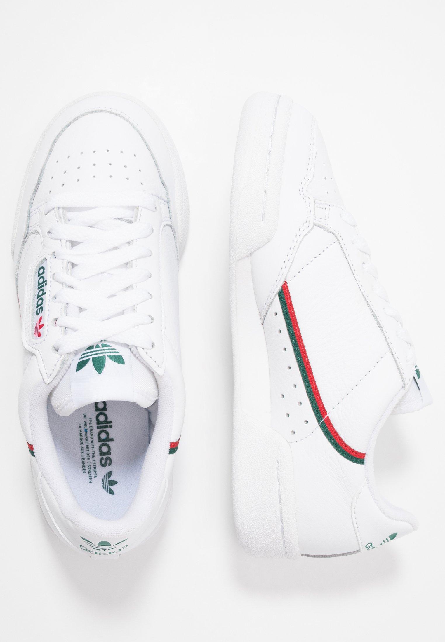 CONTINENTAL 80 - Sneaker low - footwear white/collegiate green/scarlet