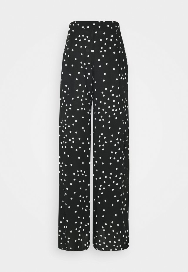 SPOT WIDE LEG - Trousers - black