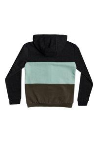 Quiksilver - TROPICAL BLOCK - Zip-up hoodie - dark grey heather - 1