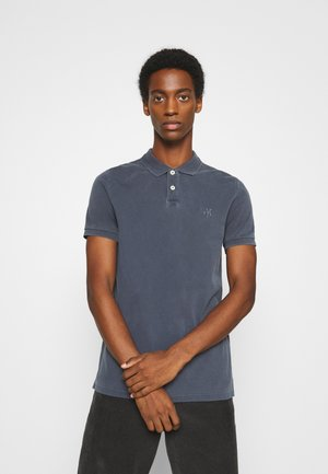 SHORT SLEEVE RIB DETAILS - Poloshirt - total eclipse