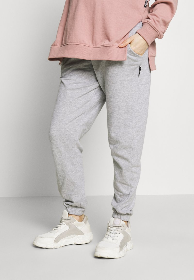 Missguided Maternity - Tracksuit bottoms - grey marl