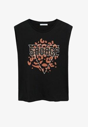 SAVAGE - Print T-shirt - noir