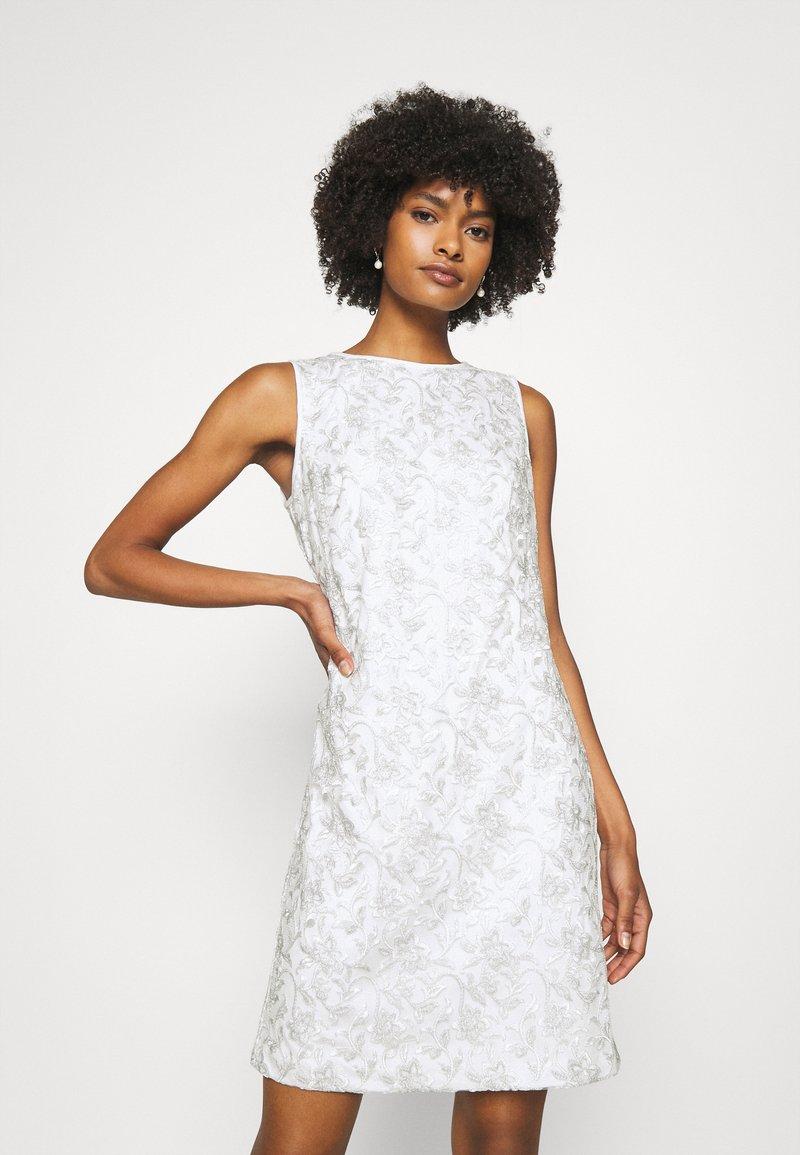Lauren Ralph Lauren - MELLIE SLEEVELESS EVENING DRESS - Cocktail dress / Party dress - white/silver