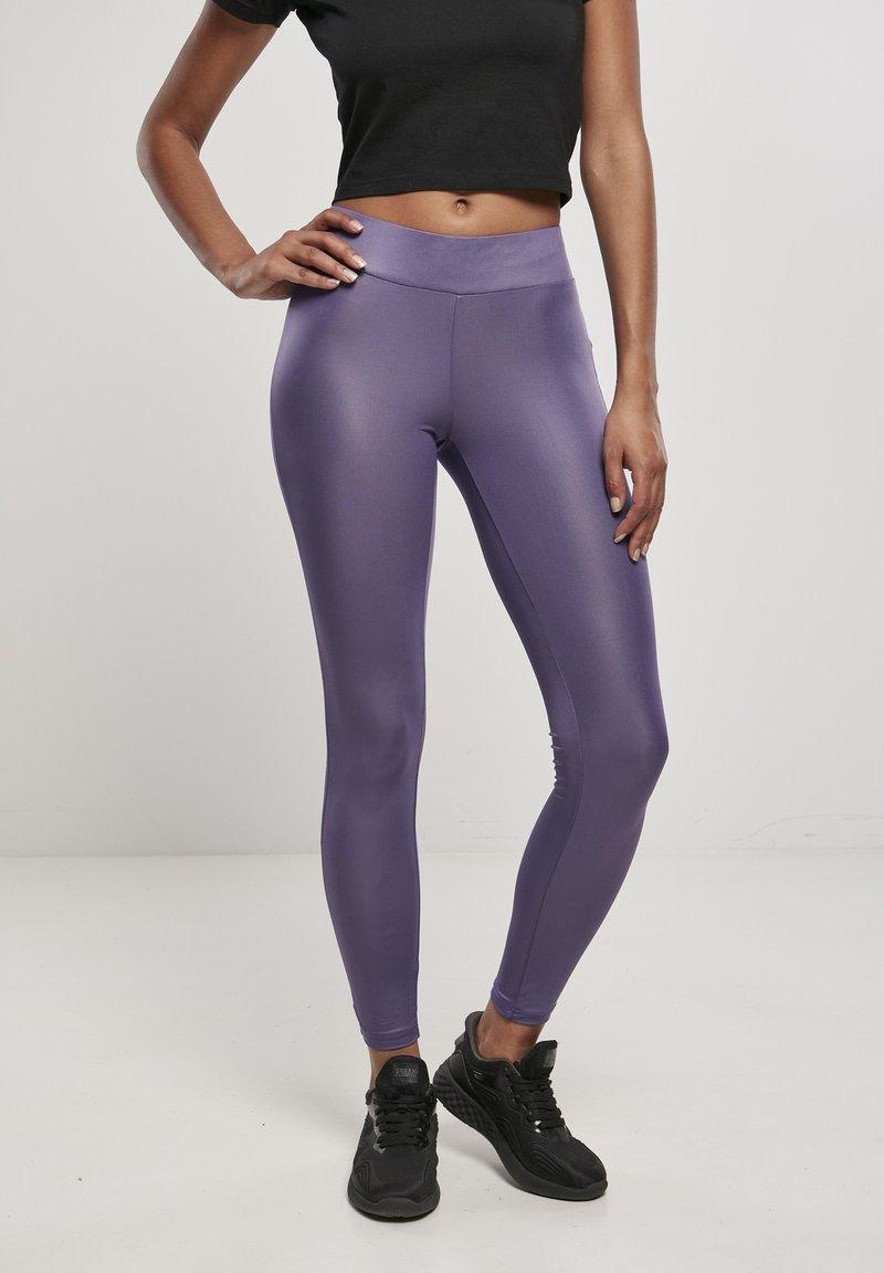 Urban Classics - Leggings - Trousers - darkduskviolet