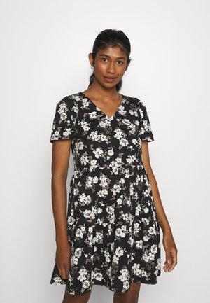 VIEDENA V-NECK DRESS - Jersey dress - black