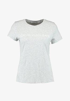 INSTITUTIONAL LOGO TEE - T-shirts med print - light grey heather
