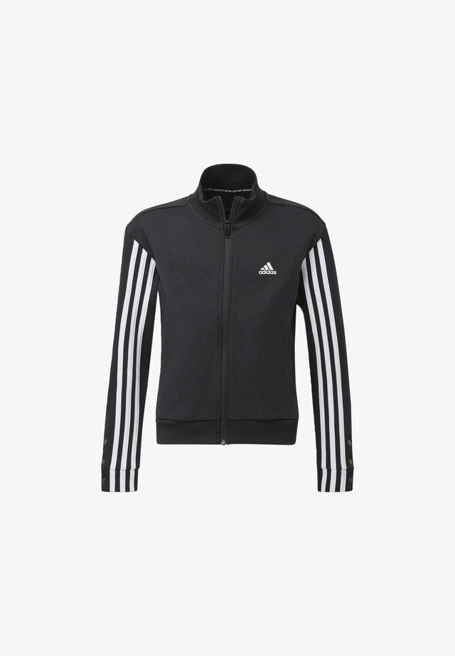 SNAP BOMBER JACKET - Sweater met rits - black