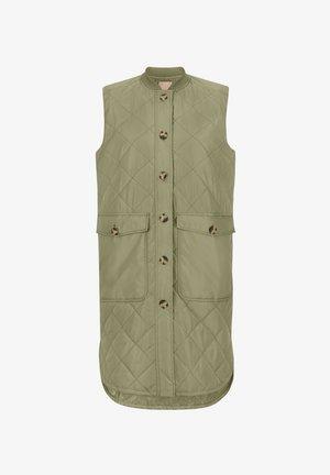 SREILEEN QUILT VEST - Waistcoat - covert green
